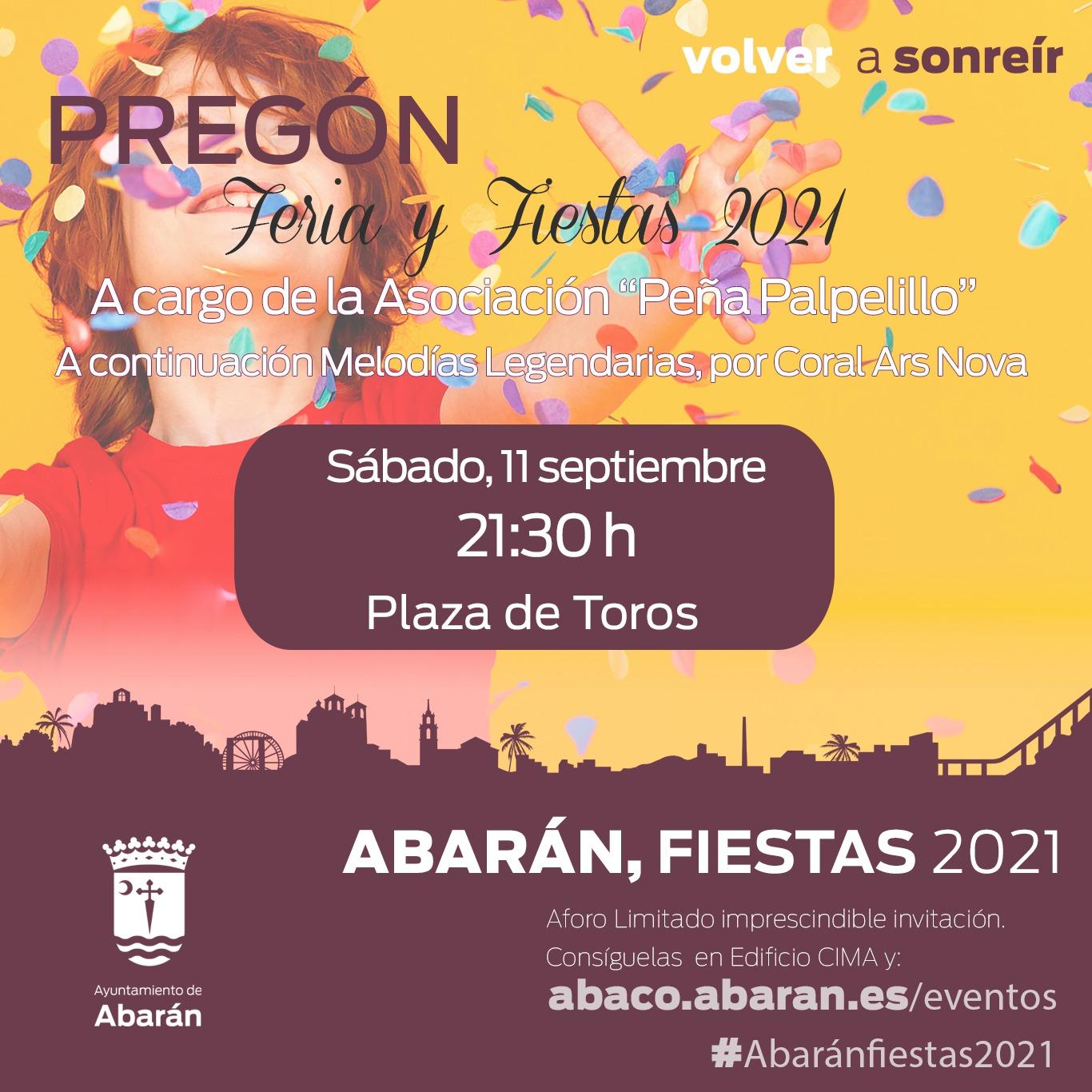 Cartel Pregón Feria y Fiestas 2021